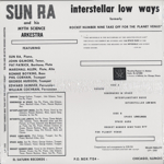 Interstellar Low Ways (180g)